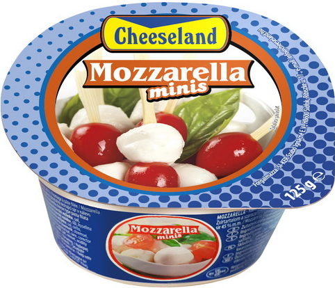 Cheeseland mozarella mini 125g