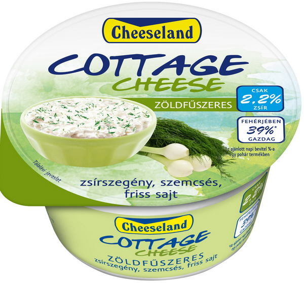 cheeseland cottage cheese fuszeres tegely