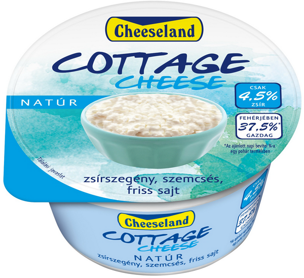 cheeseland cottage cheese natur tegely